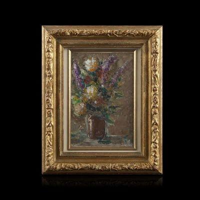 Expertissim - Tableau décoratif-Expertissim-Mimi Verry, nature morte au bouquet de fleurs