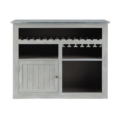 Bar zinc meuble bar maisons du monde decofinder - Comptoir du monde meubles ...