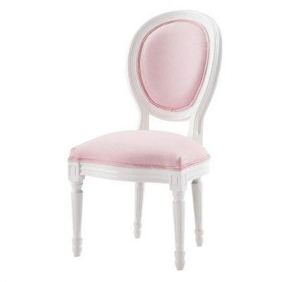 Maisons du monde - Chaise enfant-Maisons du monde-Chaise enfant rose Louis