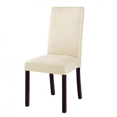 Maisons du monde - Chaise-Maisons du monde-Chaise cuir ivoire Harvard