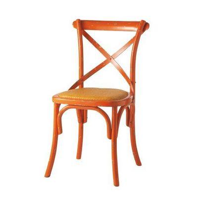 MAISONS DU MONDE - Chaise-MAISONS DU MONDE-Chaise orange Tradition