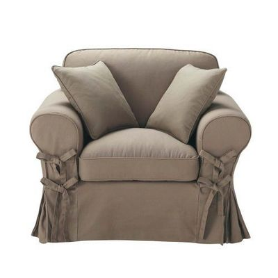 Maisons du monde - Fauteuil-Maisons du monde-Fauteuil taupe Butterfly