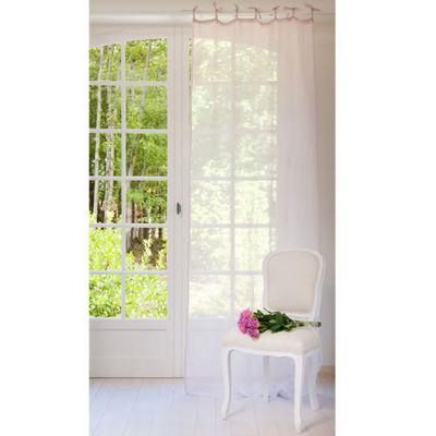 Maisons du monde - Rideaux à lacettes-Maisons du monde-Rideau lin lilas