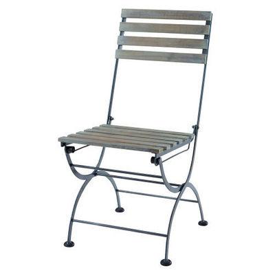 Maisons du monde - Chaise de jardin-Maisons du monde-Chaise anthracite Garden Party