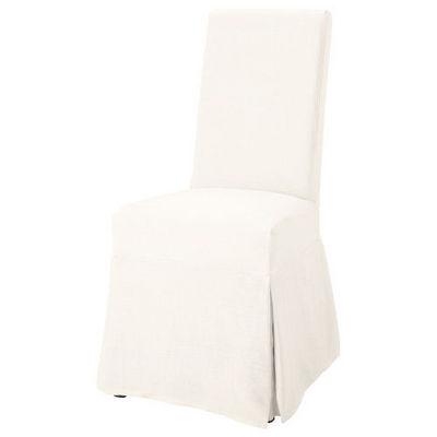 Maisons du monde - Chaise-Maisons du monde-Housse lin blanc Margaux