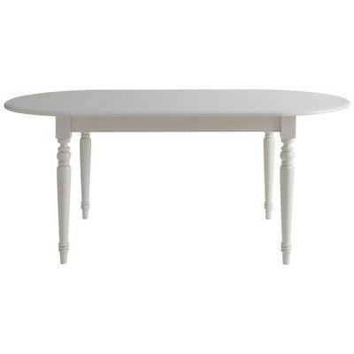Maisons du monde - Table de repas ovale-Maisons du monde-Table à dîner blanche Faustine