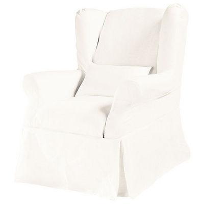 Maisons du monde - Housse de fauteuil-Maisons du monde-Housse lin blanc Cottage