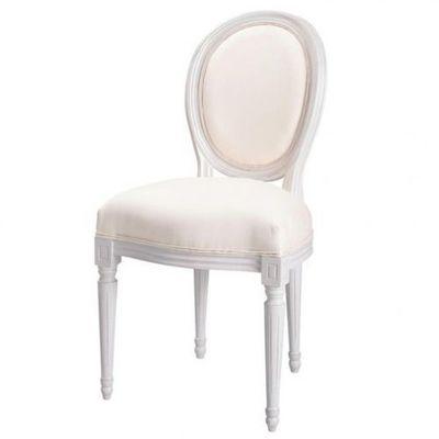 Maisons du monde - Chaise médaillon-Maisons du monde-Chaise ivoire Louis