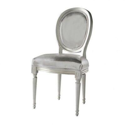 Maisons du monde - Chaise m�daillon-Maisons du monde-Chaise argent Louis