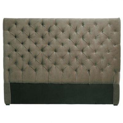 Maisons du monde - Tête de lit-Maisons du monde-Tête de lit 160 cm taupe Chesterfield