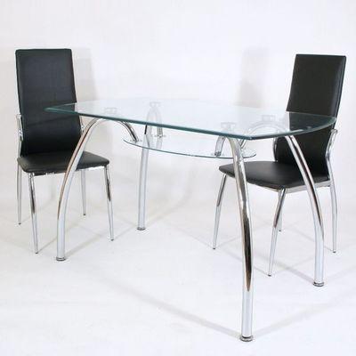 CLEAR SEAT - Table de repas rectangulaire-CLEAR SEAT-Table en Verre Spider 120 X 70 cm avec Tablette