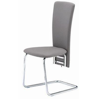 CLEAR SEAT - Chaise visiteur-CLEAR SEAT-Chaises Grises Simili Cuir Tempo lot de 6