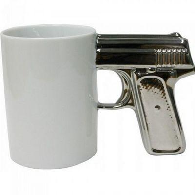 Manta Design - Mug-Manta Design-Mug design Top gun argent