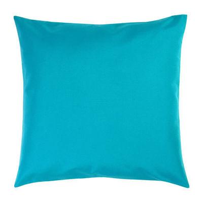 TROIS MAISON - Coussin carré-TROIS MAISON-COUSSIN FEUILLE bleue Format 65 X 65 cm