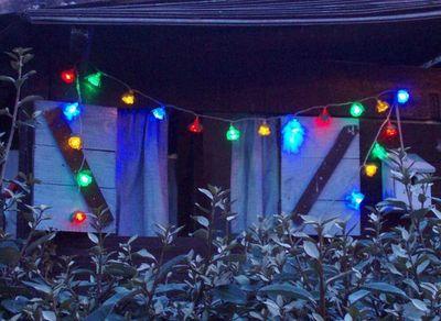 FEERIE SOLAIRE - Guirlande lumineuse-FEERIE SOLAIRE-Guirlande solaire fleurs 20 leds multicolores 3m80
