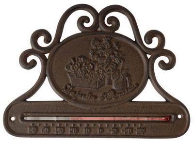 Antic Line Creations - Thermomètre-Antic Line Creations-Thermomètre de jardin horizontale en fonte 25x18cm