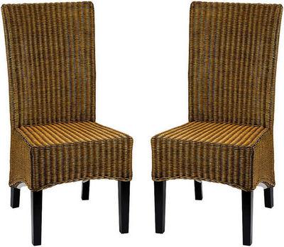 ZAGO - Chaise-ZAGO-Chaise en rotin pain d'épices 45x55x100cm (par 2)