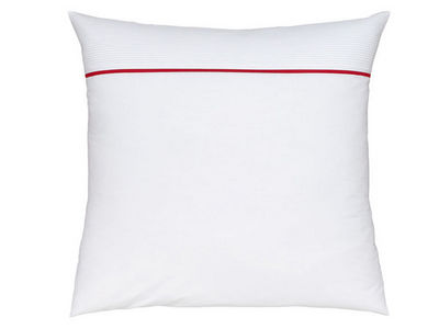 BLANC CERISE - Taie d'oreiller-BLANC CERISE-Taie d'oreiller carrée - percale (80 fils/cm²)
