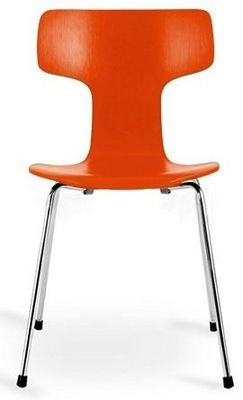 Arne Jacobsen - Chaise-Arne Jacobsen-Chaise 3103 Arne Jacobsen orange Lot de 4