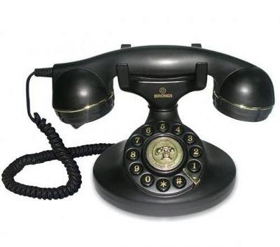 BRONDI - Téléphone-BRONDI-Tlphone filaire Vintage 10 - noir