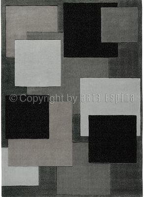 Arte Espina - Tapis contemporain-Arte Espina-Tapis de chambre REFLECTIVE 6 gris 120x180 en Acry