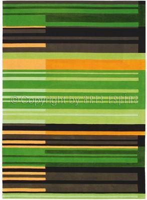 Arte Espina - Tapis contemporain-Arte Espina-Tapis de petit tapis COLOUR CODES vert 70x140 en A