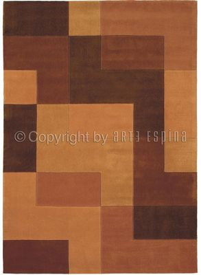 Arte Espina - Tapis contemporain-Arte Espina-Tapis Design Brown Logarythm