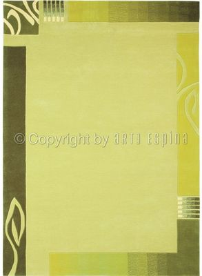 Arte Espina - Tapis contemporain-Arte Espina-Tapis de salon EASY GOING 3 vert 140x200 en Acryli