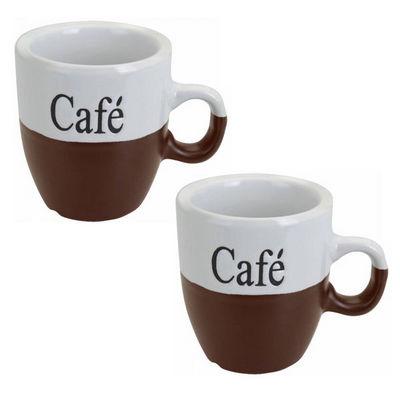 WHITE LABEL - Mug-WHITE LABEL-Lot de 2 mugs � caf�