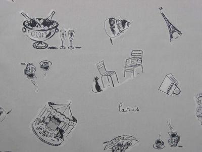 FLEUR DE SOLEIL - Tissu d'ameublement-FLEUR DE SOLEIL-Tissu Paris Gris 160x160
