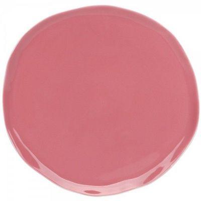 La Chaise Longue - Assiette plate-La Chaise Longue-Assiette nymphea rose