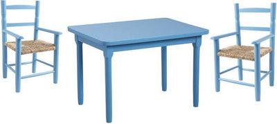 Aubry-Gaspard - Table enfant-Aubry-Gaspard-Salon enfant 1 Table 2 Fauteuils