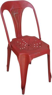 Antic Line Creations - Chaise-Antic Line Creations-Chaise Vintage en m�tal Rouge