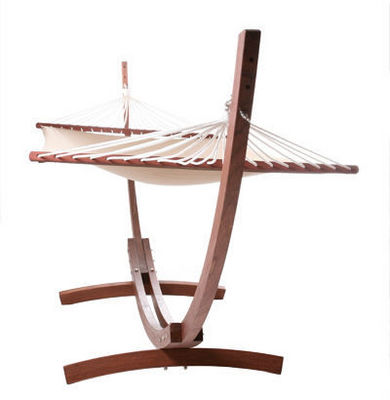 KOKOON DESIGN - Hamac à barres-KOKOON DESIGN-Hamac en bois d'eucalyptus et toile coton caramel
