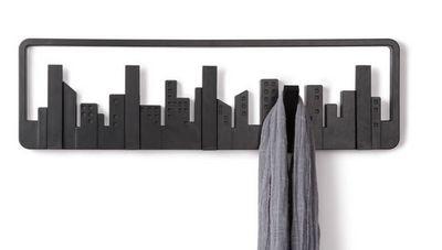 Umbra - Portemanteau-Umbra-Porte-manteaux noir skyline 5 crochets 49,5x8x14,5