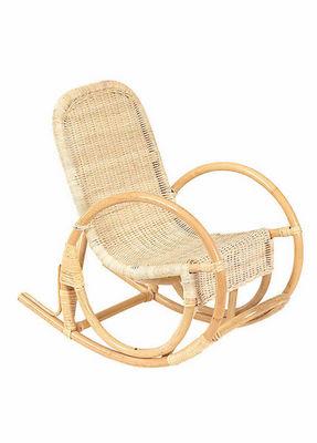 Aubry-Gaspard - Fauteuil Enfant-Aubry-Gaspard-Rocking Chair pour enfant en rotin