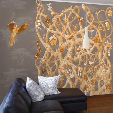 ATELIER MARETTE - Papier peint panoramique-ATELIER MARETTE-Diversité OR, GOLD