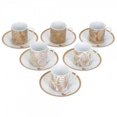 La Chaise Longue - Tasse � caf�-La Chaise Longue-Set de 6 tasses et sous-tasses Parisiennes