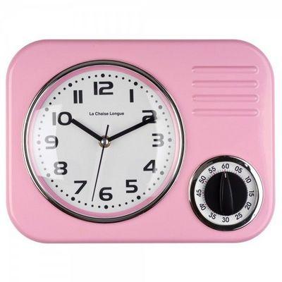 La Chaise Longue - Minuteur-La Chaise Longue-Horloge minuteur rose