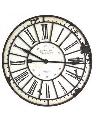 L'HERITIER DU TEMPS - Horloge murale-L'HERITIER DU TEMPS-Horloge Fer et Bois 74 cm