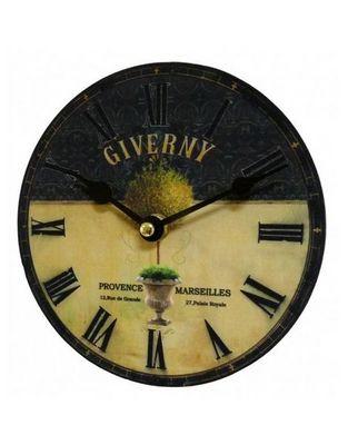 L'HERITIER DU TEMPS - Horloge murale-L'HERITIER DU TEMPS-Horloge Giverny Noire et Jaune 16,5cm