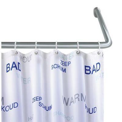 Wenko - Barre d'angle pour rideau de douche-Wenko