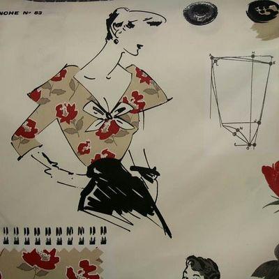 Le Quartier des Tissus - Tissu imprimé-Le Quartier des Tissus-Tissu imprime Miss Couture
