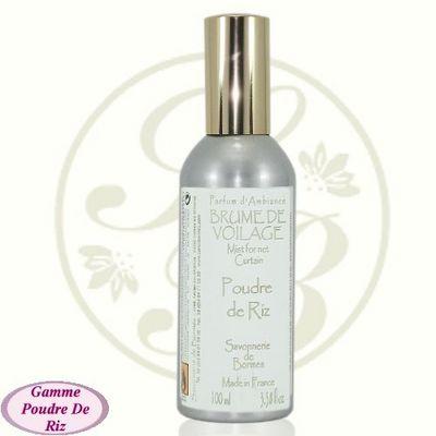 Savonnerie De Bormes - Parfum d'intérieur-Savonnerie De Bormes-Brume de voilage - Poudre de Riz - 100 ml - Savonn
