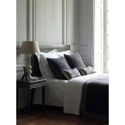 BLANC D'IVOIRE - Boutis-BLANC D'IVOIRE-MILAN flanelle gris