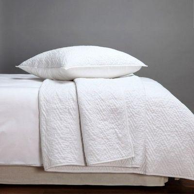 BLANC D'IVOIRE - Jeté de lit-BLANC D'IVOIRE-ANDRE Coton Blanc