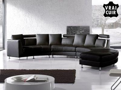 BELIANI - Canapé modulable-BELIANI-Sofa en cuir