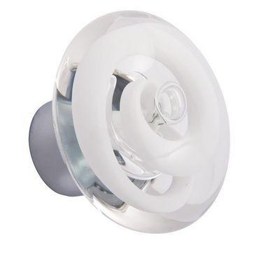 Les Verreries De Brehat - Bouton de porte-Les Verreries De Brehat-Tubes de bulles disque blanc