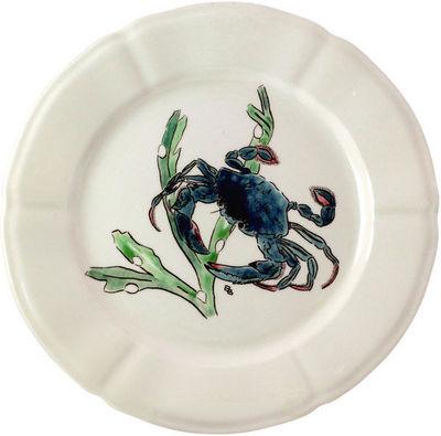 Gien - Assiette plate-Gien-Crabe bleu