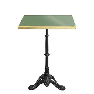 Ardamez - Table bistrot-Ardamez-Table de bistrot émaillée reseda / laiton / fonte